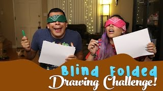 Blind Folded Drawing Challenge!