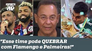 """""""Pode parecer LOUCURA, mas..."""" Flavio revela em que time APOSTA para PEITAR Flamengo e Palmeiras!"""