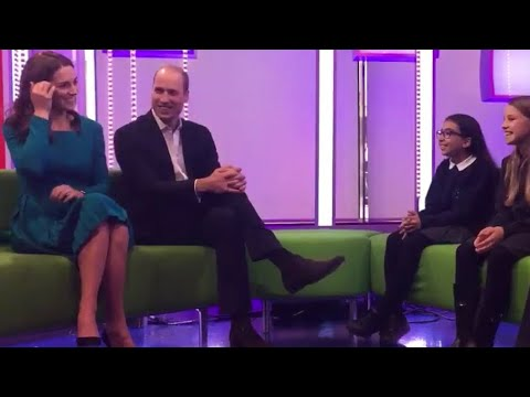 Duke & Duchess Of Cambridge Visit 'One ' Sofa & Prince William AntiCyberbullying Speech