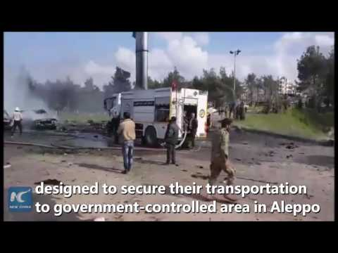 70 killed in Syria blast targeting transit point for evacuees