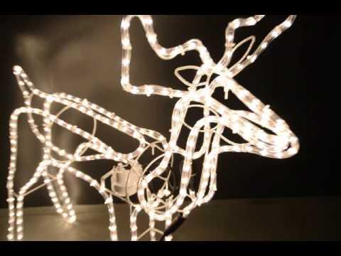 Weihnachtsbeleuchtung Rentier Beweglich.Led Lichtschlauch Rentier Mit Beweglichem Kopf