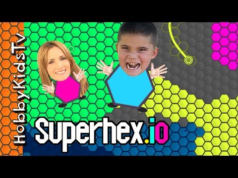 SUPERHEX.IO w/HobbyPig! HobbyMom First Time Playing PC Computer App, Video Gaming Fun HobbyKidsTV