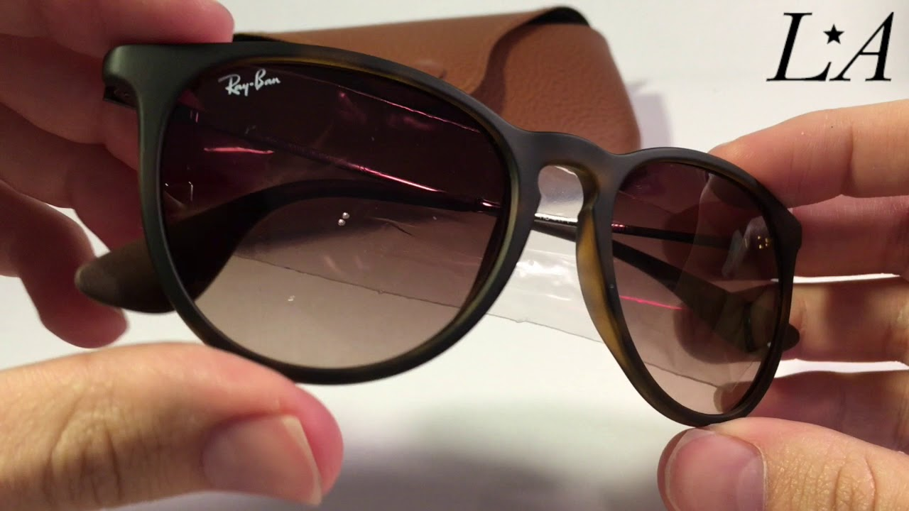 Ray Ban Erika Tortoise RB4171 865 13 - YouTube 5e94b4cfac