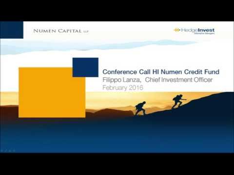 23 Febbraio 2016 - HI Numen Credit Fund Conference Call - ITA