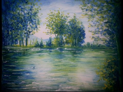 Warm And Cool Pastel Painting Lesson   How to paint a landscape with oil pastel   Long Version