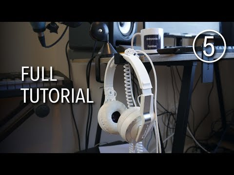 Designing a Headphones Holder in Tinkercad - Full Tutorial