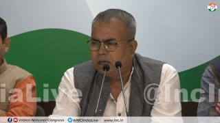 LIVE: AICC Press briefing by Arbind Singh at Congress HQ