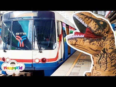 เพลงรถไฟสามัคคี   ไดโนเสาร์ขึ้นรถไฟฟ้า BTS   เพลงรถไฟ ปู้น ปู้น   Train Song
