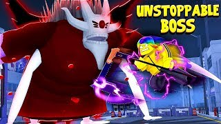 I trained ALL DAY and FOUGHT the UNSTOPPABLE BOSS.. (Roblox Ro Ghoul)