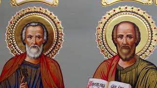 Сумская Икона Апостолы Пётр и Павел Обзор Готовой Работы Ростовая Икона Написана а Мастерской