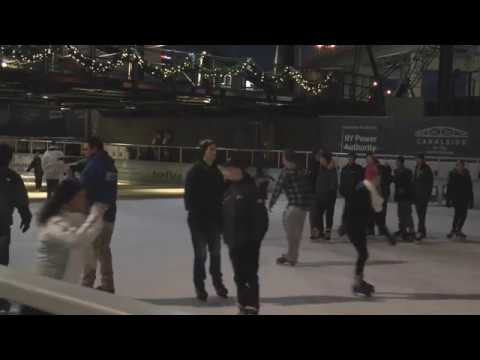 Canalside ice rink opens with greater emphasis on safety