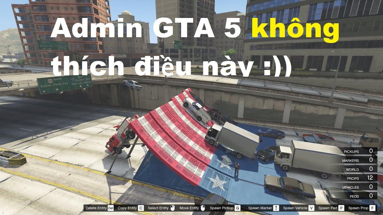 GTA 5 - Xây Tường Chặn Giao Thông Trong GTA V, Điều Gì Sẽ Xảy Ra?