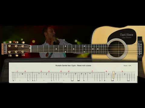 GİTAR DERSİ 1 - Reset ( Mustafa Sandal featEypio )- Taci Hoca : 0543 232 91 22