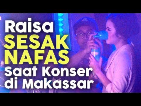 Cover Lagu Raisa Sesak Nafas - Hirup Tabung Oksigen saat perform di Makassar HITSLAGU
