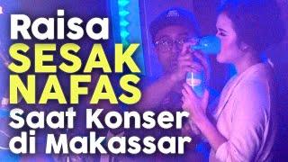 Download lagu Raisa Sesak Nafas - Hirup Tabung Oksigen saat perform di Makassar MP3