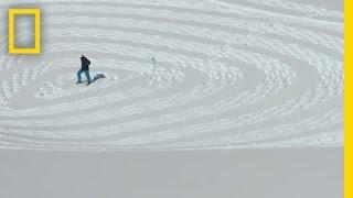 رجل واحد يمشي في الثلج يخلق العملاقة تحفة   أفلام قصيرة
