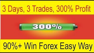 3 Days 3 Trades 300% Profit 90% Win High Profit Forex Trading Strategy Tani Forex In Urdu & Hindi