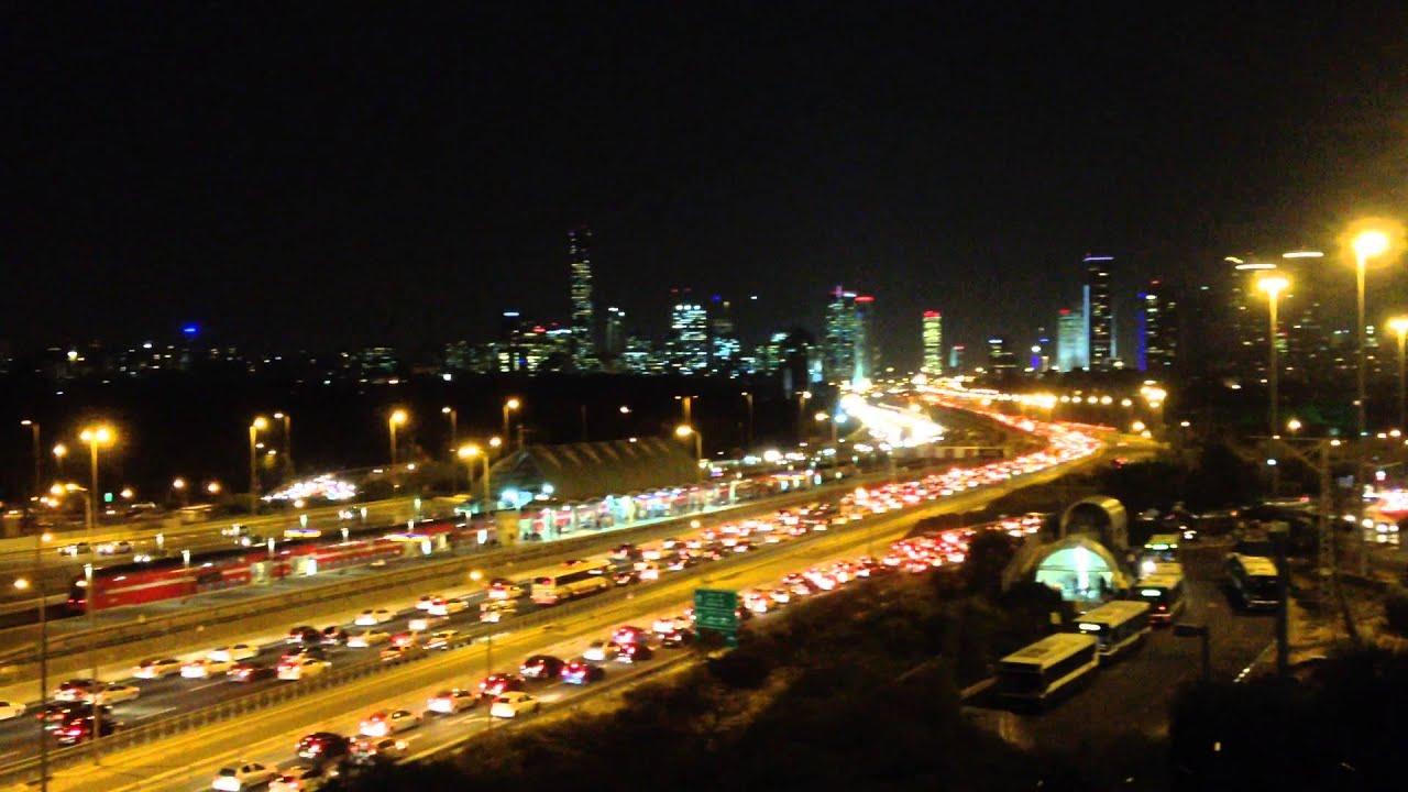 tel aviv skyline and ayalon freeway at night youtube