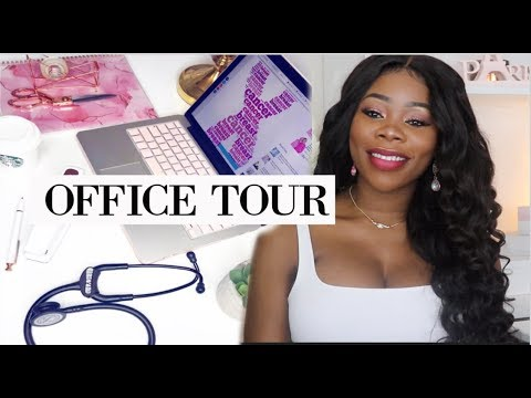 GLAM HOME OFFICE TOUR. LUXURY ON A BUDGET.