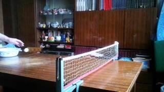 Настольный теннис подача БУМЕР коротко в сетку