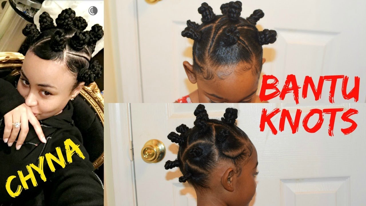 Blac Chyna Inspired Bantu Knots Kids Natural Hairstyles