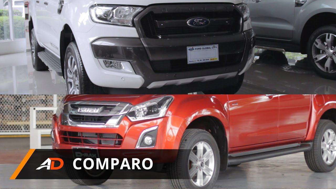 Ford ranger vs isuzu d max