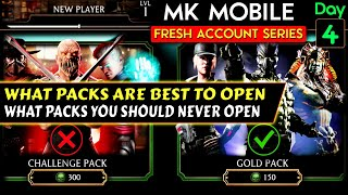 MK Mobile Fresh Acc๐unt Series Ep. 4. Opening My First Gold Pack. Worst and Best Packs in MK Mobile.
