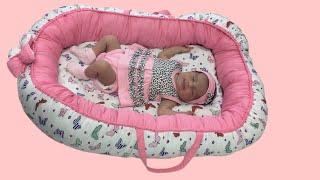 كيفية عمل سرير اطفال how to make a baby sleeping basket
