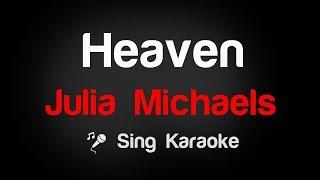 Julia Michaels - Heaven Karaoke Lyrics