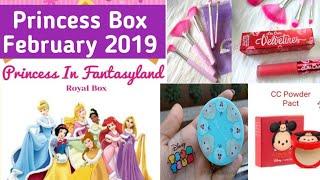 Princess Box February 2019 | Disney |Colour Pop |Lime Crime |Cover FX Glitter Drops | Karl Lagerfeld