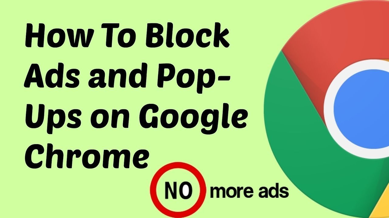 How to block AD and pop-up on Google chrome - YouTube