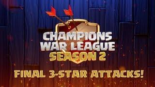 COC - CWL Season 2 Tournament Final 3-Star Attacks! | Dark Looters vs War & Glory | Clash of Clans