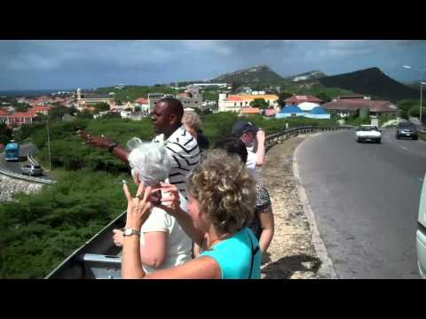 Curacao's scary bridge - at the entrance and goin' over!