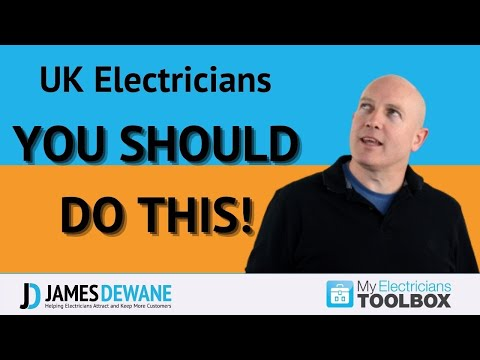 UK Electricians. It is Crazy if you are NOT doing this..