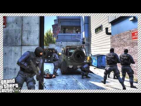S.W.A.T POLICE RAID POLICE STATION, CRAZY HOSTAGE SITUATION