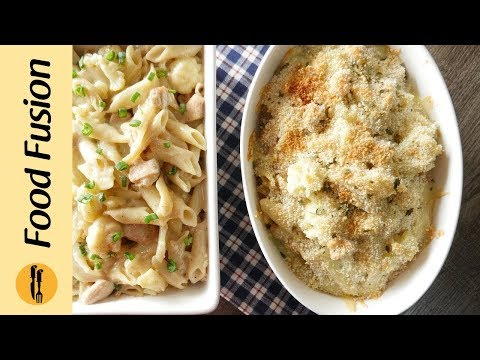 Chicken Cheesy Pasta with Cauliflower Recipe By Food Fusion