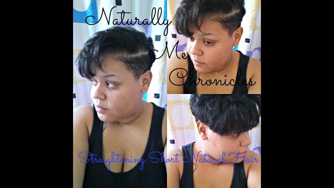 straightening tapered natural hair