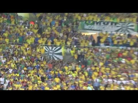 Brazilian anthem at Maracanã from the stands — Confederations Cup Final [13-06-30]