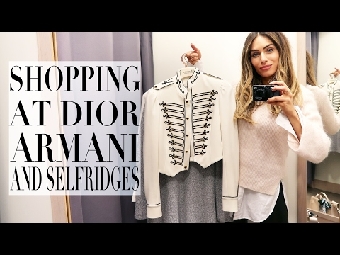 COME SHOPPING WITH ME AT DIOR, ARMANI & SELFRIDGES | Lydia Elise Millen