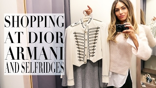 come shopping with me at dior armani selfridges   lydia elise millen