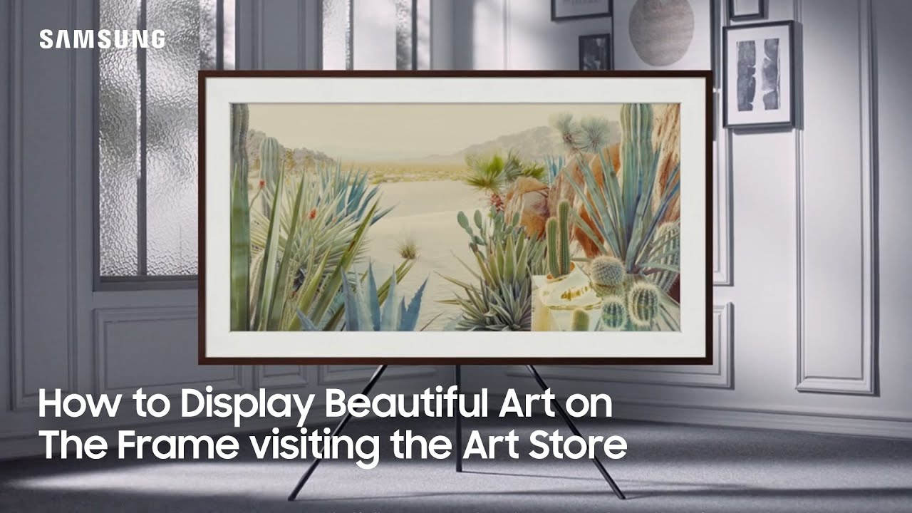 How to Display Beautiful Art on The Frame visiting the Art Store | Samsung