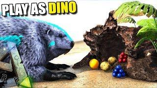 NEW BEAVER UPDATE ! WE CAN MAKE BEAVER DAMS   PLAY AS DINO   ARK SURVIVAL EVOLVED