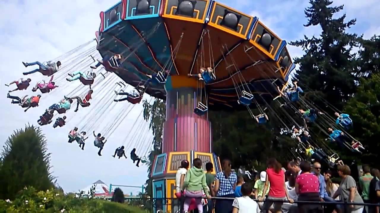 chaises volante walibi belgium youtube