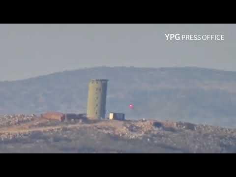 Afrin'in Bilbil ilçesinde bir Türk sınır karakoluna karşı füze eylemi