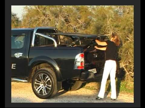 pick up ford ranger accessoires couvre tonneau hard top youtube. Black Bedroom Furniture Sets. Home Design Ideas