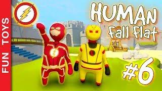 Human Fall Flat #6 - FLASH e Flash REVERSO passando fases deste jogo muito engraçado e IRADO! 😂