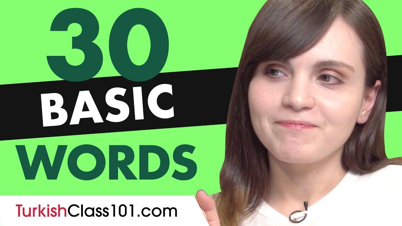 30 Beginner Turkish Words (Useful Vocabulary)