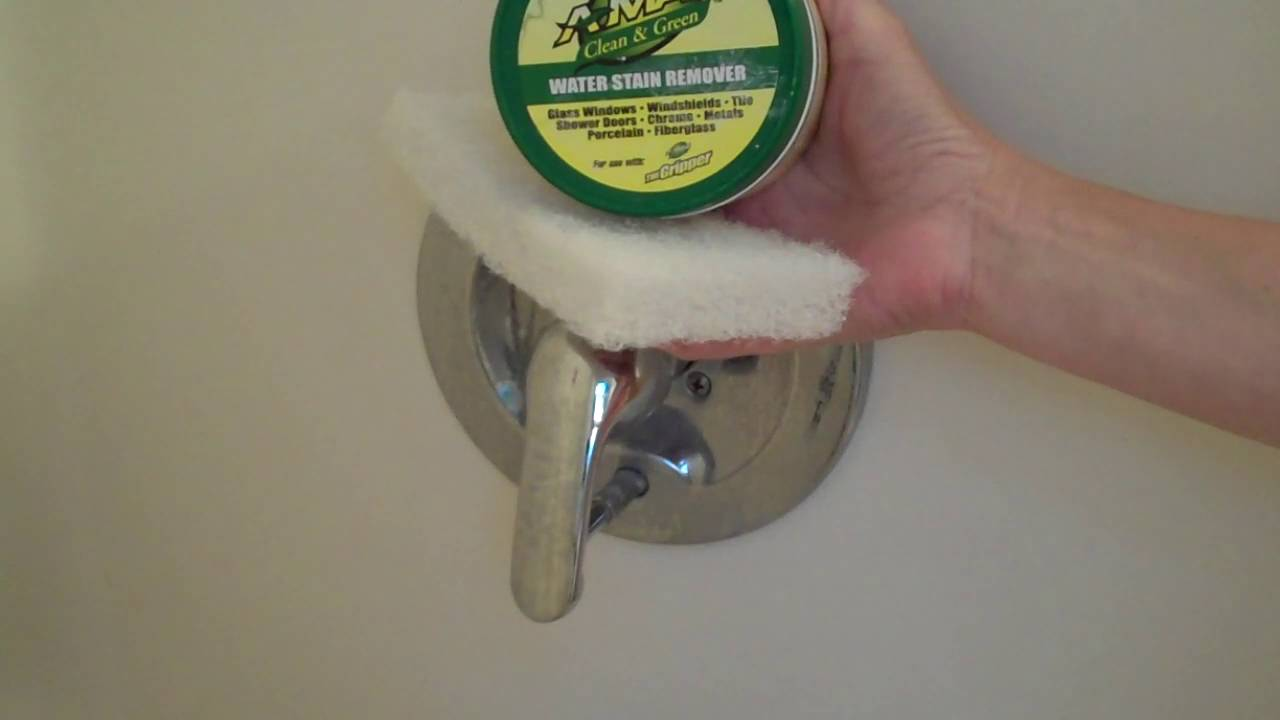 AMaz Hard Water, Soap Scum cleaner on Chrome, Awesome!! - YouTube