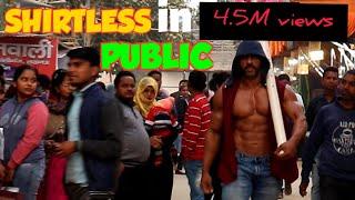 INDIAN BODY BUILDER GOES SHIRTLESS IN PUBLIC screenshot 5