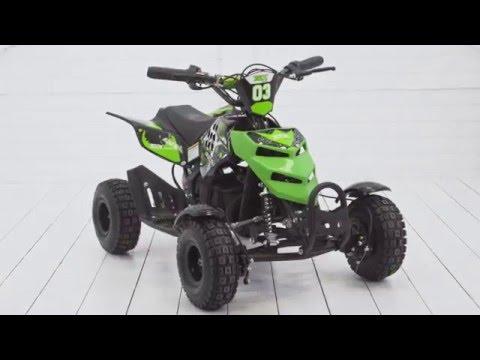 Детский квадроцикл МОТАХ на аккумуляторе 500W - Обзор и сборка